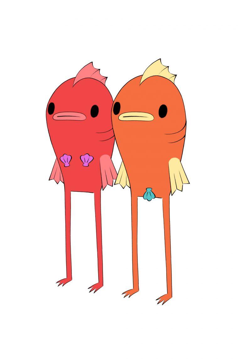 Tina and Tucker: reverse mermaid twins