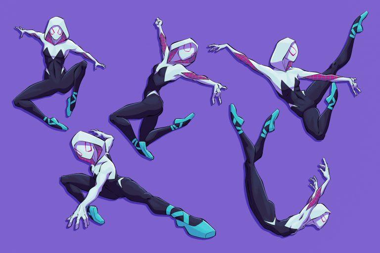 Spider Gwen poses