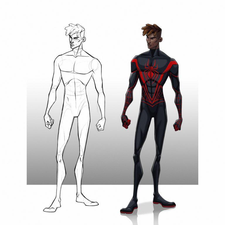 Miles Morales – University character design