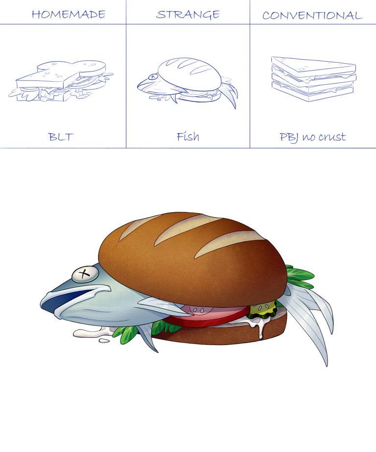 Lunch Prop – Fish Sandwich